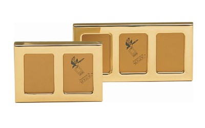 Mehrfach-Fotorahmen Messing-Gold