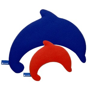 Leschi Wärmetier Delphin Fleece Bezug, Füllung Bioweizen