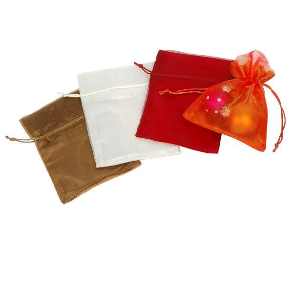 Geschenksäckchen blickdicht Samt mit halbtransparent Organza