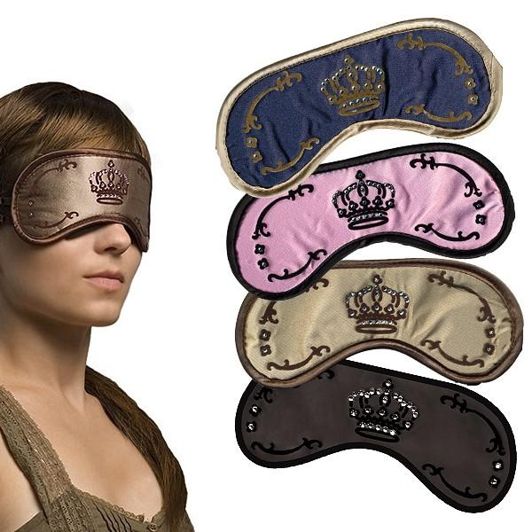 Schlafmaske Crown mit Swarowski Steinchen in 4 Farben