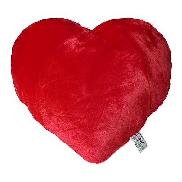 Herzkissen, roter Plüsch
