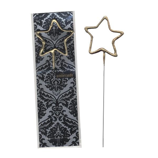 Wunderkerze Stern Luxus gold