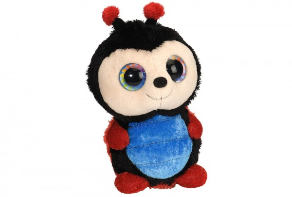Kleiner Marienkäfer mit süßen Augen und Antennen