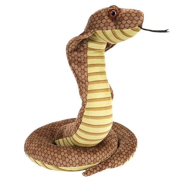 Plüsch-Kobra stehend