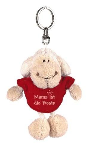 """Anhänger Plüsch-Schaf mit T-Shirt """"Mama ist die Beste""""  von NICI"""
