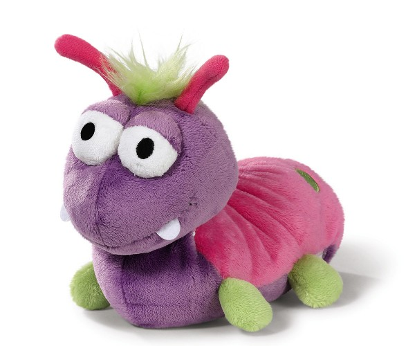 Witzige Plüschraupe 25cm purple-pink von NICI