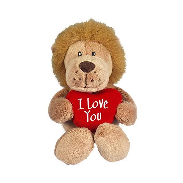 I Love You Löwe mit Herzkissen