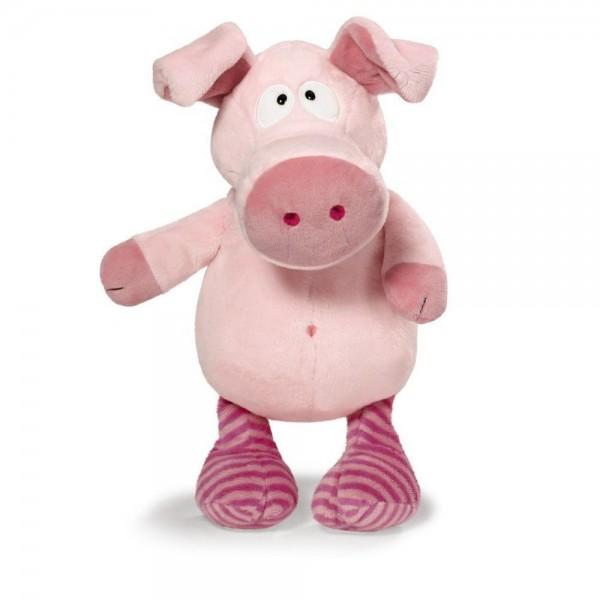 Kuschelschwein rosa mit gestreiften Beinen 35cm, NICI Selection