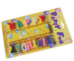 Buchstaben-Kerzen Happy-Birthday