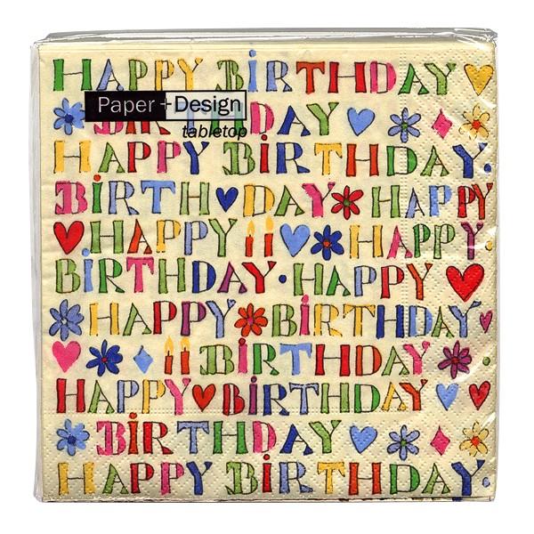 Geburtstags-Servietten Happy Birthday