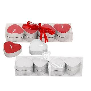 Herzförmige Teelichter 8er Pack