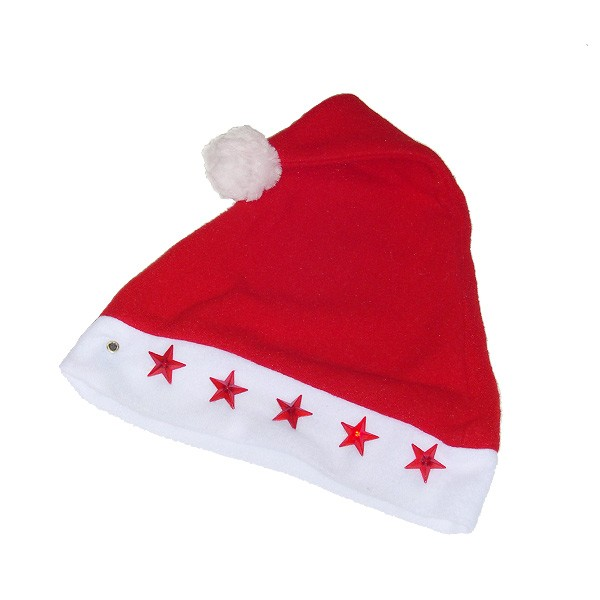Weihnachtsmütze mit Blinksternen