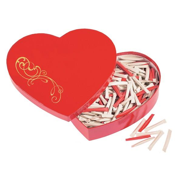 Herzbox mit Liebeslosen