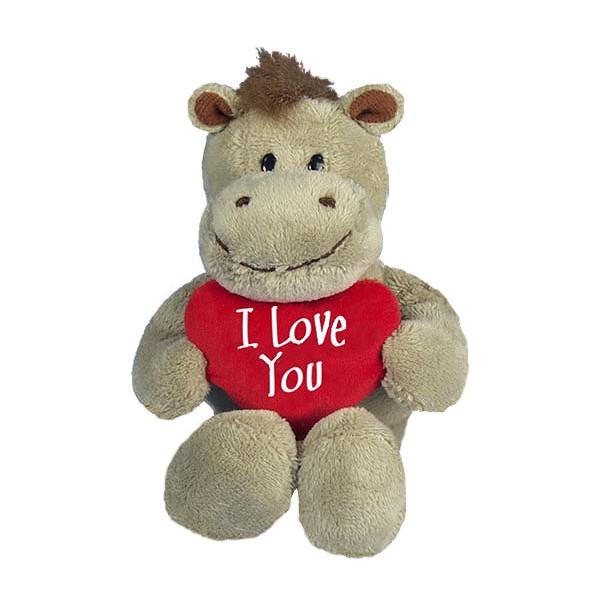 I-Love-You Hippo mit Herzkissen