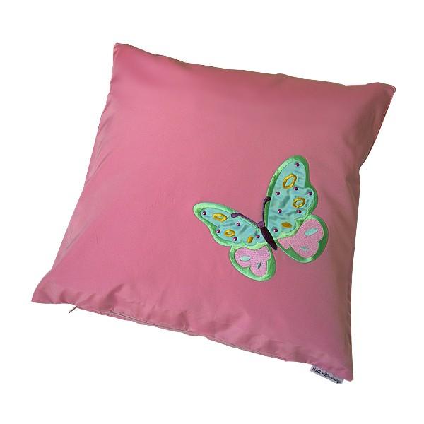 Kissenbezug Satin Schmetterling