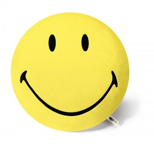 Kissen Smiley rund 45cm, gelb
