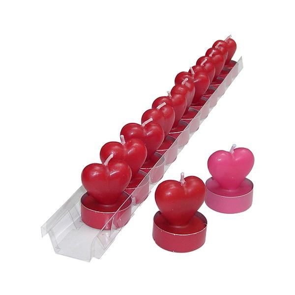 Herz-Teelichter, 12 Stück