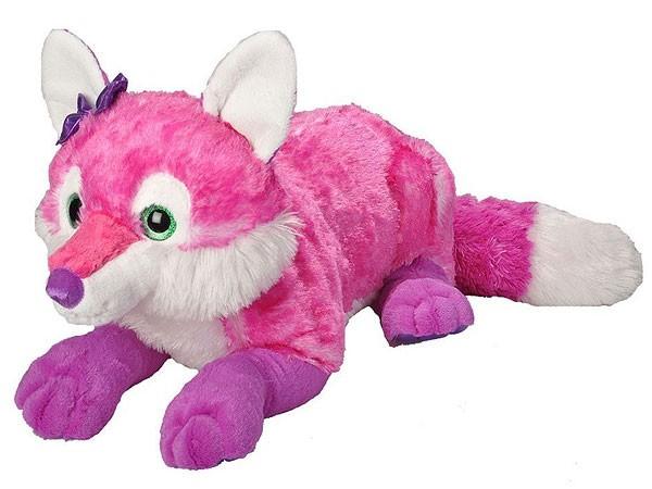Jumbo Plüsch-Fuchs, pink 60cm