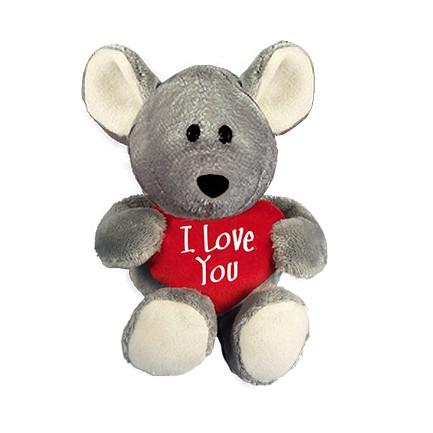 I-Love-You Maus mit Herzkissen