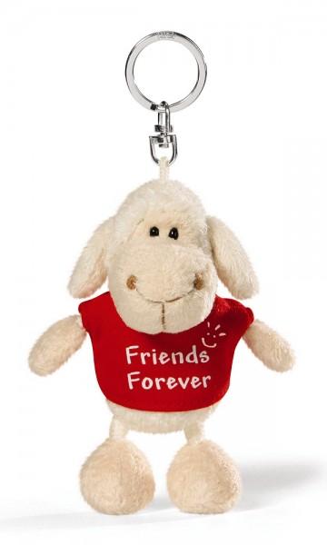 """Anhänger Plüsch-Schaf mit rotem T-Shirt """"Friends Forever"""" von NICI"""