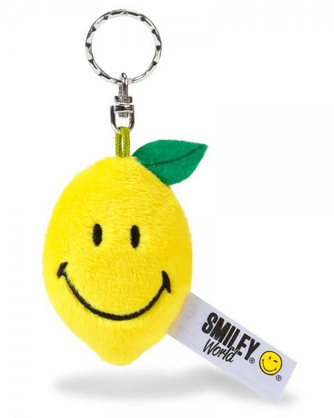 NICI Schlüsselanhänger Zitrone Smiley aus Plüsch