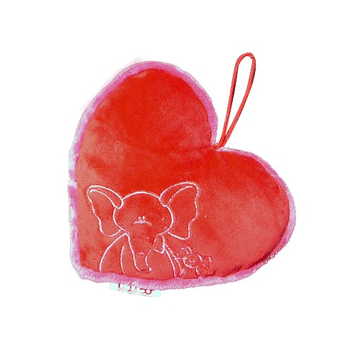 Rotes kleines Plüschherz mit Stickerei Max & Milly von NICI