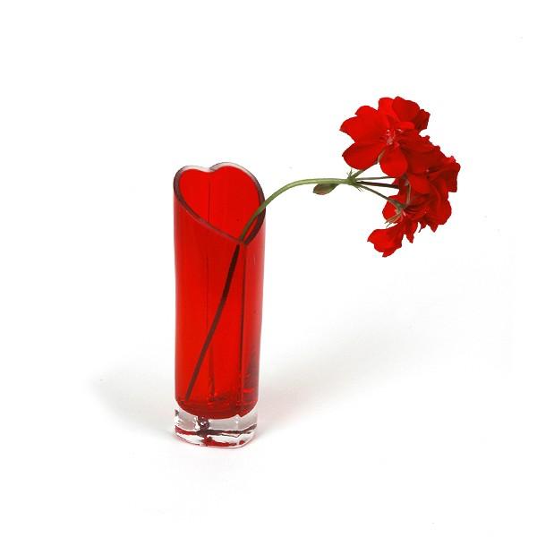 Herzvase rot
