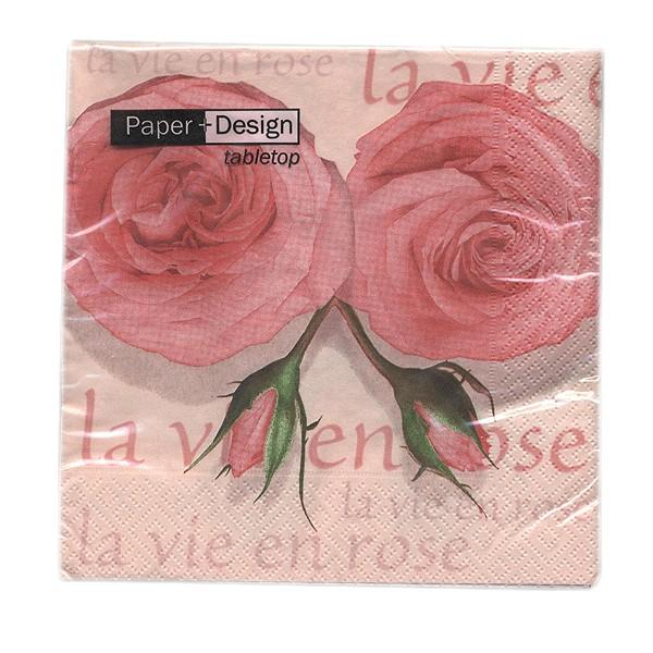 Rosen-Servietten, la vie en rose
