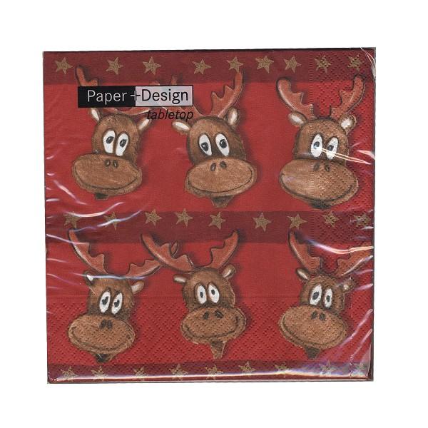 Weihnachts-Servietten Tony the Elk